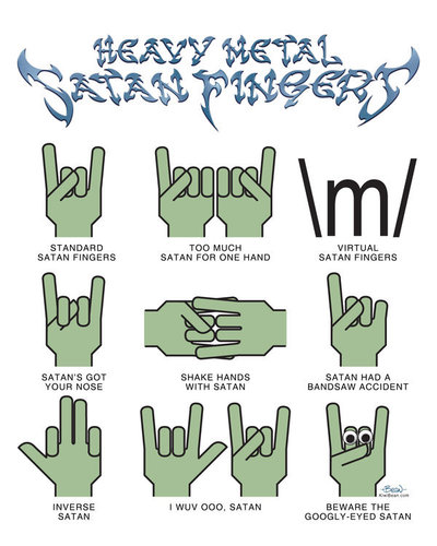 Heavy Metal Satan Fingers