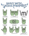 Heavy Metal Satan Fingers - heavy-metal fan art