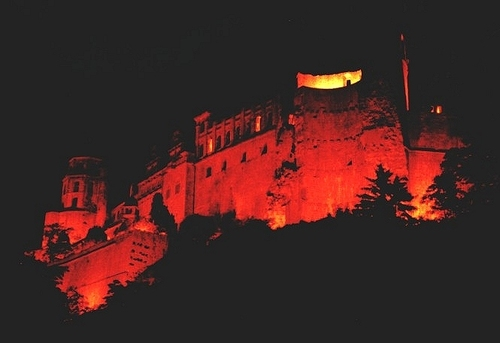 Heidelberg Castle at Night - castles Photo