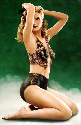 Heidi Klum in Bodypainting