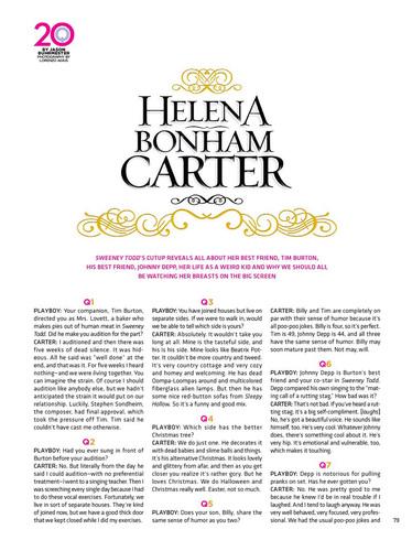 Helena Bonham Carter 20 Q's