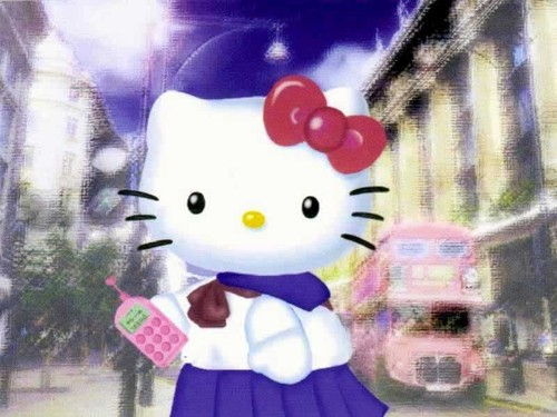 Hello Kitty پیپر وال titled Hello Kitty