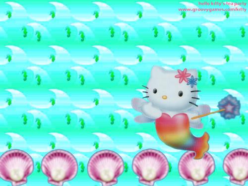 Hello Kitty seahorse wallpaper