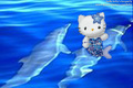 Hello kitty with dolphins
