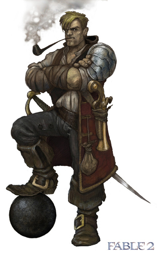 "Fable 2 concept art ""Character 2"""
