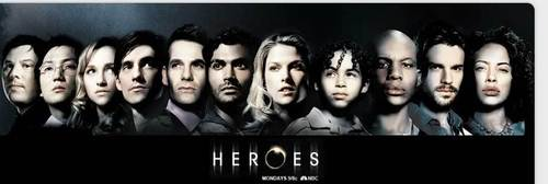 télévision fond d'écran entitled Heroes on NBC