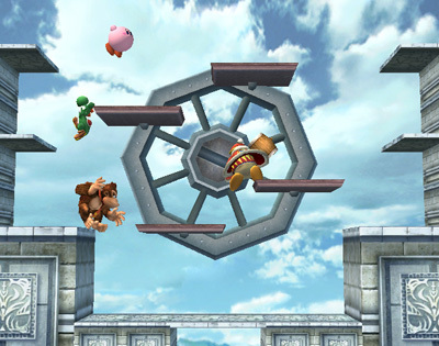 Super Smash Bros. Brawl দেওয়ালপত্র entitled Hidden Stage Builder Parts