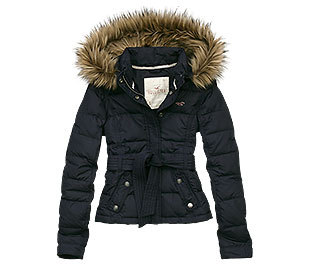 Hollister black coat