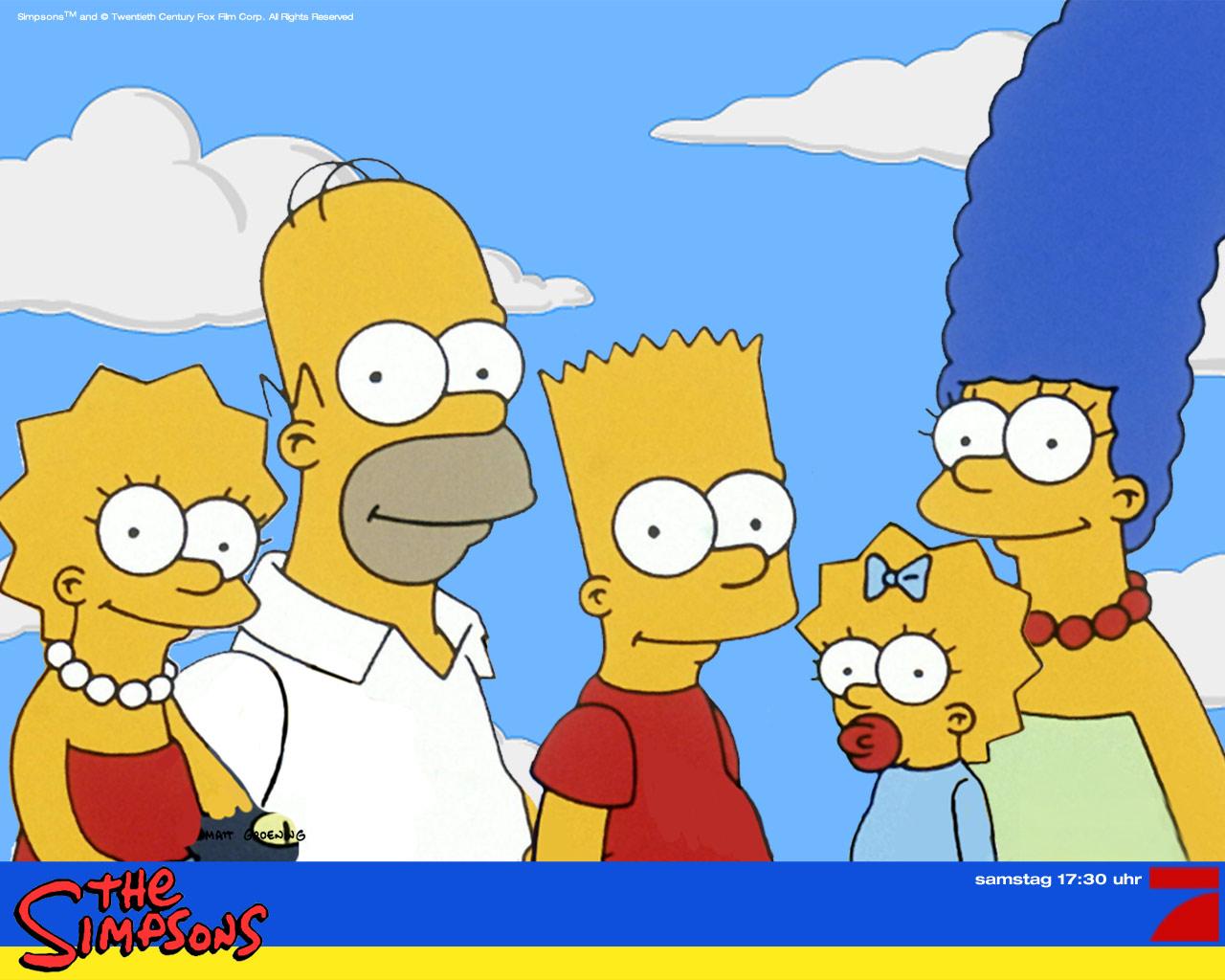 Homer Simpson Cartoon Family