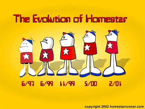 Homestar Runner Evolution