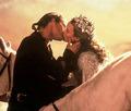 Horseback kiss