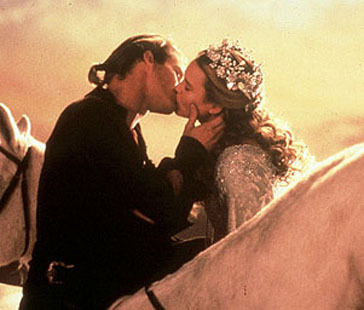 The Princess Bride پیپر وال entitled Horseback kiss