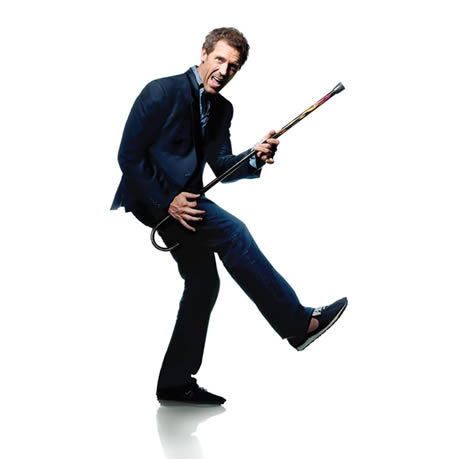House with his cane