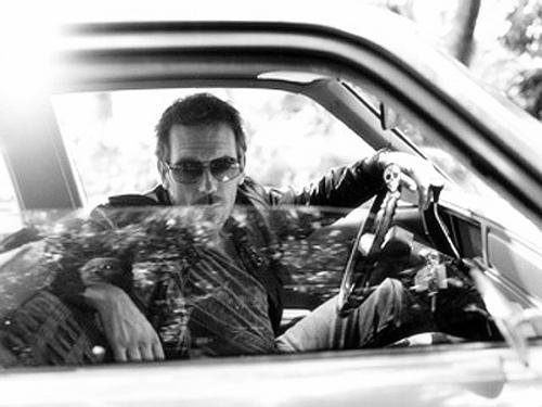Hugh Laurie b&w