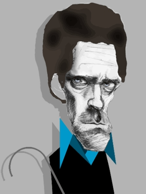 Hugh Laurie illustration