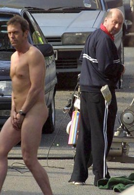 Hugh Laurie lost his towel...