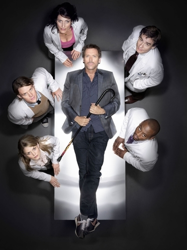 Hugh and the cast of House