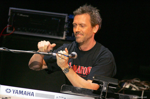 Hugh with Band From TV