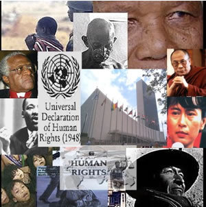 Human Rights پیپر وال entitled Human Rights Collage