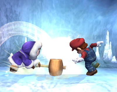 Super Smash Bros. Brawl karatasi la kupamba ukuta called Ice Climbers Special Moves