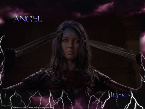 Amy Acker kertas dinding entitled Illyria