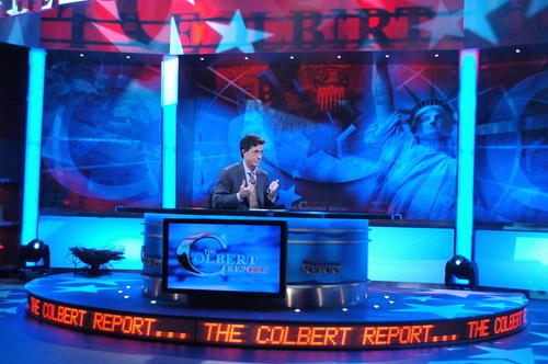 Stephen Colbert wallpaper entitled In Studio Publicity Shots