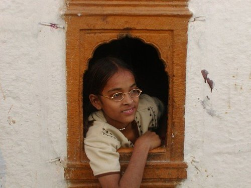 India: Girl in Window