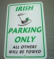 Irish Parking Sign