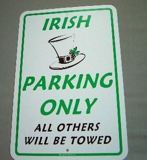 Irish Parking Sign