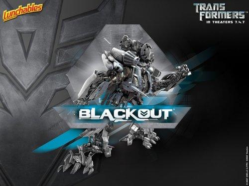Transformers karatasi la kupamba ukuta called Blackout