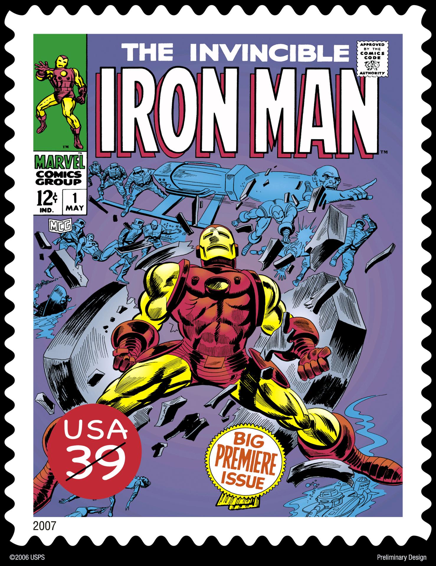 Iron Man Stamps