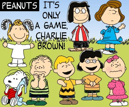 Peanuts wallpaper entitled It's Only a Game
