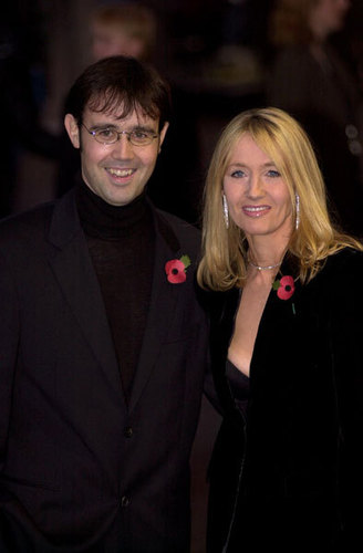 J.K Rowling and her Husband
