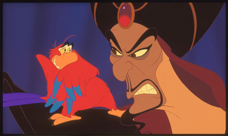 Jafar and Iago - aladdin Photo