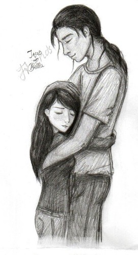 Jake and Bella Hug