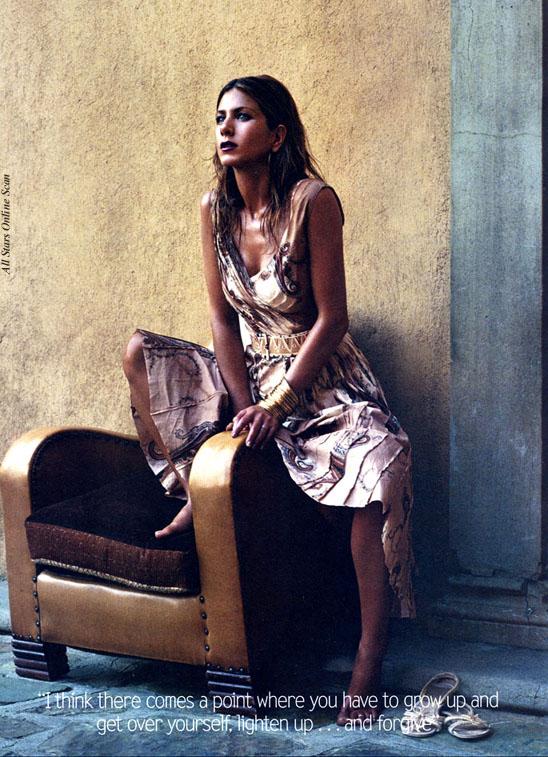 Jennifer Aniston Vogue Pictures. January 2004: Jennifer Aniston