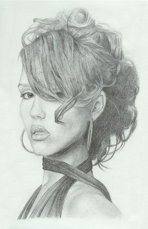 Jessica Alba Drawing