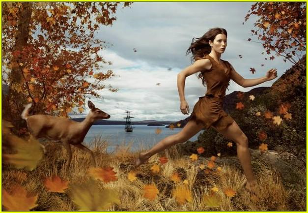 Jessica Biel is Pocahontas