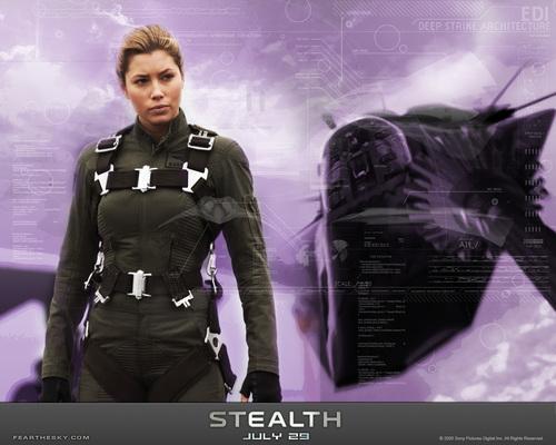 Jessica Biel karatasi la kupamba ukuta titled Stealth