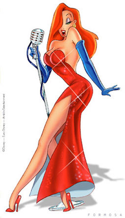 Jessica Rabbit kertas dinding titled Jessica Rabbit sings
