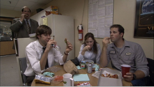Jim/Pam/Roy in Hot Girl