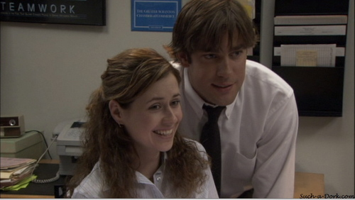 Jim and Pam in Hot Girl