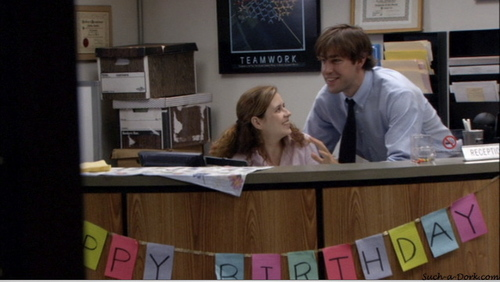 Jim and Pam in The Alliance