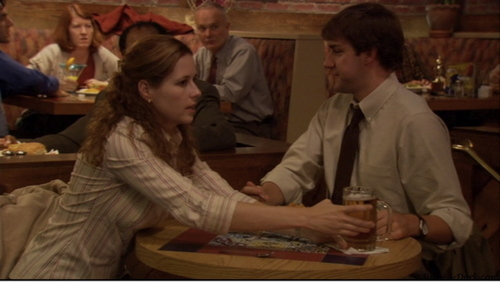 Jim and Pam in The Dundies