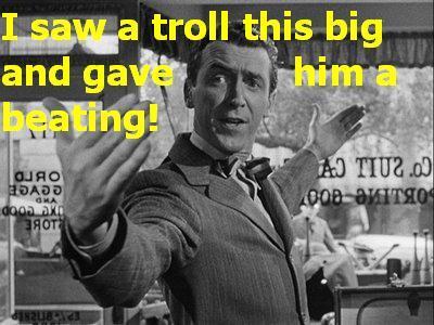 Jimmy Stewart 1, Troll 0