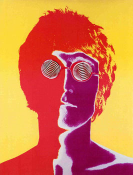 John Lennon wallpaper titled John, by Warhol