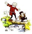 John Calvin and Thomas Hobbes - calvin-and-hobbes fan art
