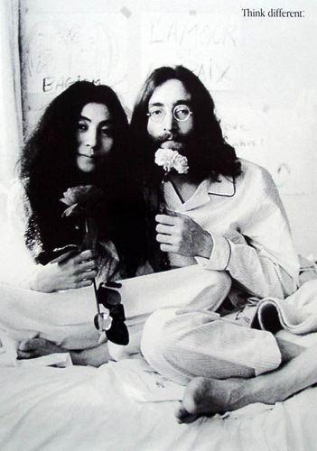 John Lennon Обои entitled John and Yoko