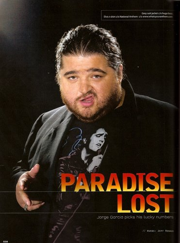 Jorge Garcia In Geek Magazine