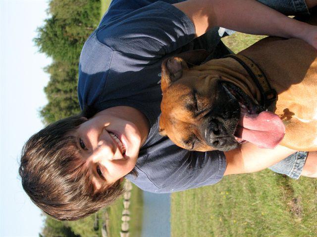 Josh and his dog..